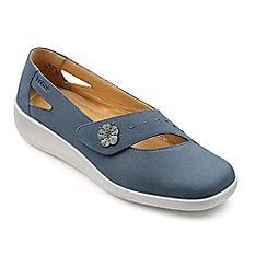 Hotter - Blue suede 'Bliss' wide fit pumps