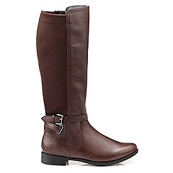 Hotter - Brown leather 'Briony' knee high boots