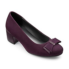 Hotter - Purple suede 'Cecilia' heeled shoes