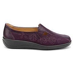 Hotter - Plum 'Calypso' wide fit slip on shoes