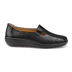 Hotter - Black 'Calypso' wide fit slip on shoes