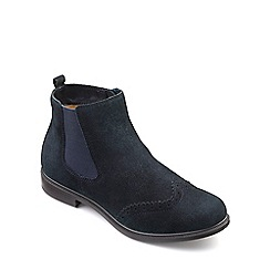 Hotter - Blue suede 'County' chelsea style boots