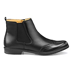 Hotter - Black leather 'County' chelsea style boots