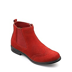 Hotter - Terracotta suede 'County' chelsea style boots