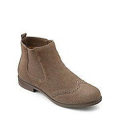 Hotter - Taupe suede 'County' chelsea style boots