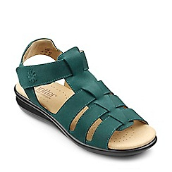 Hotter - Dark Green 'Capri' touch close gladiator sandals