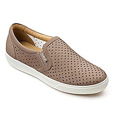 Hotter - Light brown leather 'Daisy' slip on trainers