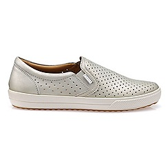 Hotter - Silver leather 'Daisy' slip on trainers