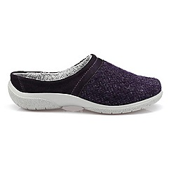Hotter - Dark purple 'Devotion' slip on slippers