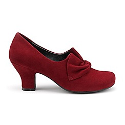 Hotter - Dark red suede 'Donna' court shoes