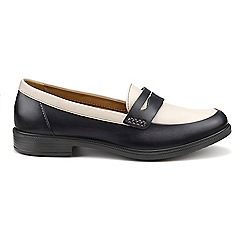 Hotter - Navy leather 'Dorset' loafers