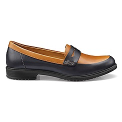 Hotter - Blue leather 'Dorset' loafers