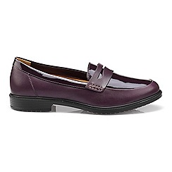Hotter - Plum patent 'Dorset' loafers