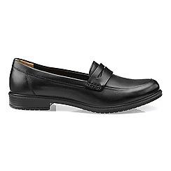 Hotter - Black leather 'Dorset' loafers