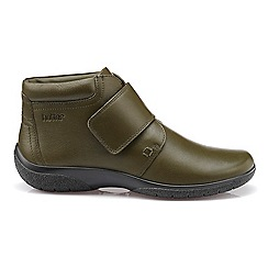 Hotter - Dark green leather 'Daydream' touch close ankle boots