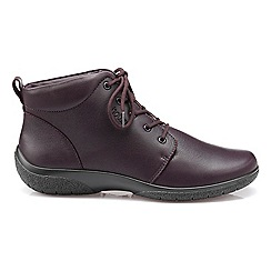 Hotter - Plum leather 'Ellery' wide fit ankle boots