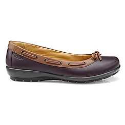 Hotter - Plum leather 'Gem' ballet pumps