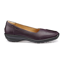 Hotter - Plum 'Gillian' slip-on shoes