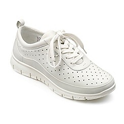 Hotter - White leather 'Gravity' lace up trainers