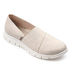 Hotter - Cream 'Halo' slip on trainers