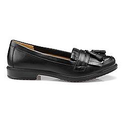 Hotter - Black leather 'Hamlet' wide fit moccasins