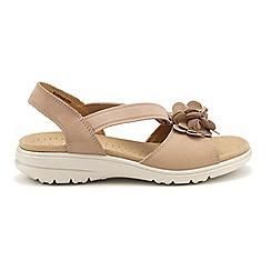 Hotter - Taupe 'Hannah' peep toe sandals