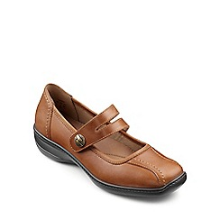 Hotter - Dark tan leather 'Karen' mary janes