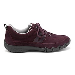 Hotter - Plum 'Leanne' wide fit lace-up trainers