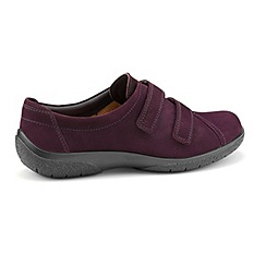 Hotter - Plum 'Leap' wide fit touch close shoes