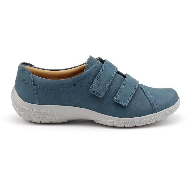 Hotter Blue nubuck 'Leap' shoes