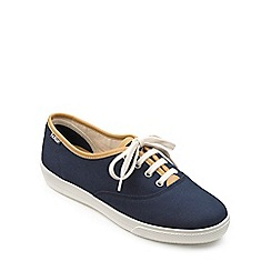 Hotter - Navy canvas 'Mabel' lace up trainers