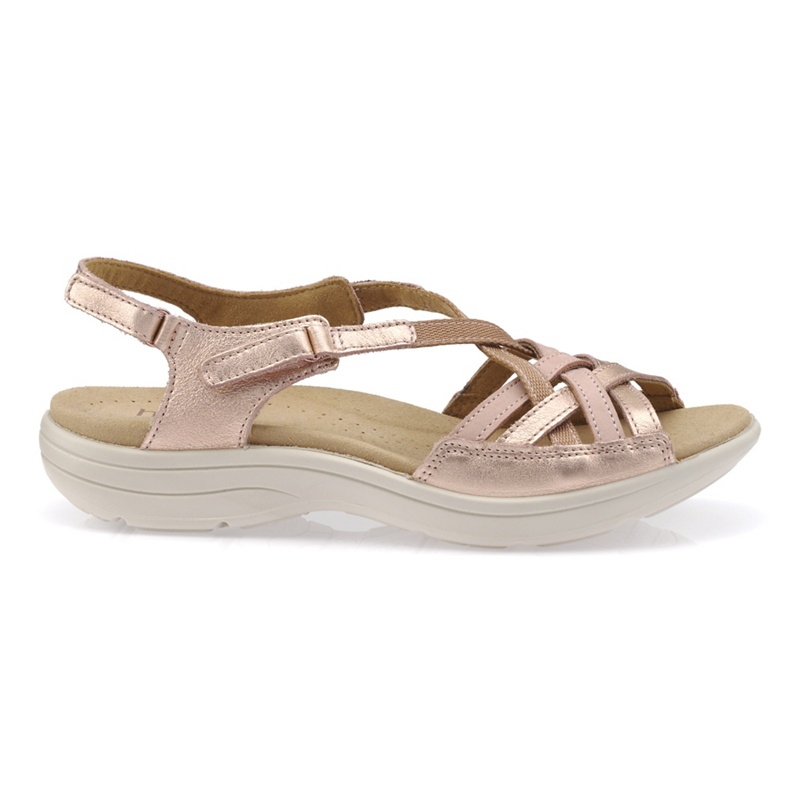 34b7fd4570a Hotter - Rose Gold  Maisie  Wide Fit Slingback Sandals