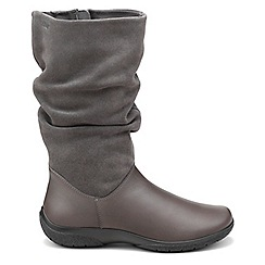 Hotter - Dark grey 'Mystery' wide fit calf boots