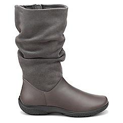 Hotter - Dark grey 'Mystery' calf boots