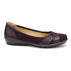 Hotter - Plum 'Natasha' ballet pumps