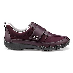 Hotter - Plum 'Nicole' wide fit touch close casual trainers