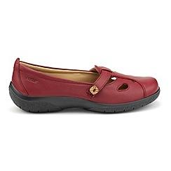 Hotter - Dark red 'Nirvana' wide fit pumps