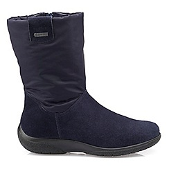 Hotter - Navy suede 'Orla GTX' snow boots