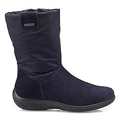 Hotter - Navy 'Orla' calf boots