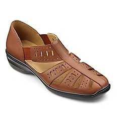 Hotter - Tan leather 'Peru' slip on shoes