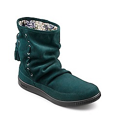 Hotter - Dark Green suede 'Pixie' calf boots