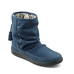 Hotter - Blue suede 'Pixie' calf boots