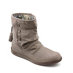 Hotter - Taupe suede 'Pixie' calf boots