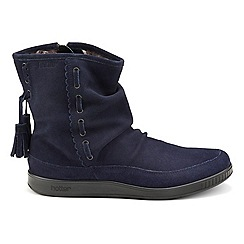 Hotter - Navy 'Pixie' wide fit calf boots