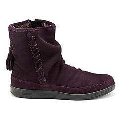 Hotter - Plum 'Pixie' calf boots