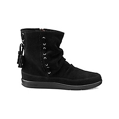 Hotter - Black suede 'Pixie' calf boots