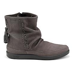 Hotter - Dark grey suede 'Pixie' calf boots