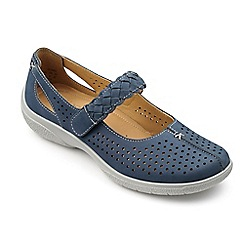 Hotter - Blue suede 'Quake' Mary Janes