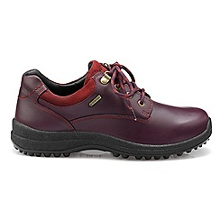 Hotter - Dark purple 'Ramble' wide fit GTX lace-up shoes