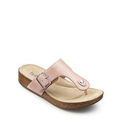 Hotter - Light pink leather 'Resort' mules
